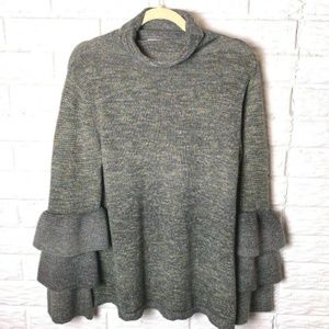 😊 Knox Rose Sweater Sz Large Long Tiered Sleeves